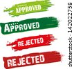 approved and rejected stamp - stock vector