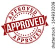 Approved grunge rubber stamp  on white, vector illustration - stock photo