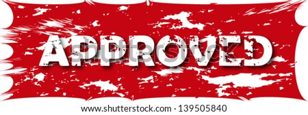 Approved grunge stamp - stock vector