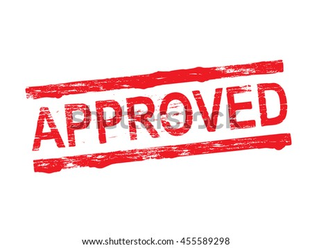 Approved grungy rubber stamp symbol vector illustration - stock vector