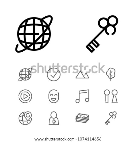 Approved Icon Key Music Note Cash Stock Vector Royalty Free