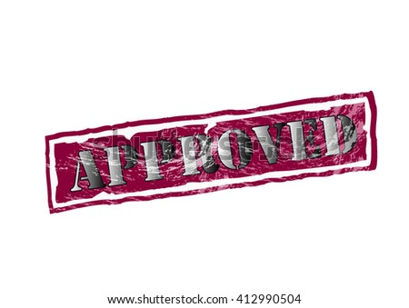 Approved rubber stamp - stock vector