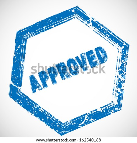 Approved stamps  - stock vector
