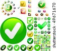 Approved vector button set. Vector great collection. - stock photo