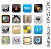 apps icon set one - stock vector