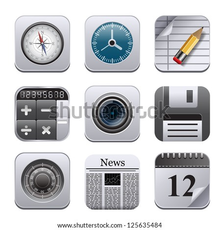 Apps icons - stock vector