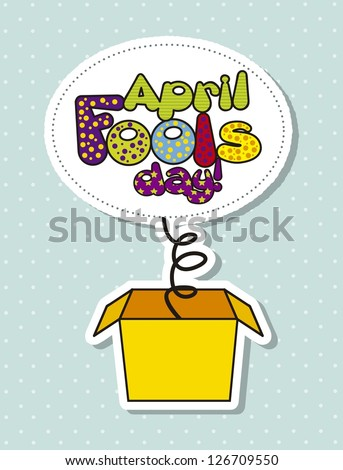 april foods day illustration with surprise box. vector illustration - stock vector