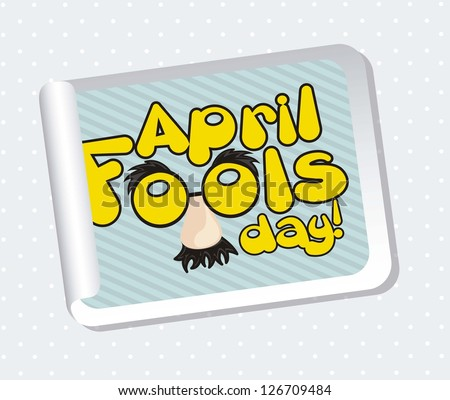 april foods day labels with fun face. vector illustration - stock vector