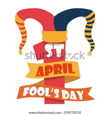 April fools day design, vector illustration. - stock vector