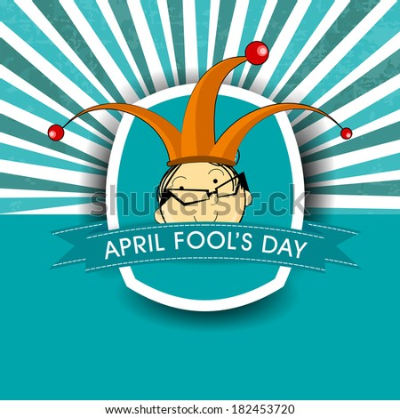 April Fools Day funky concept for April Fools Day.  - stock vector