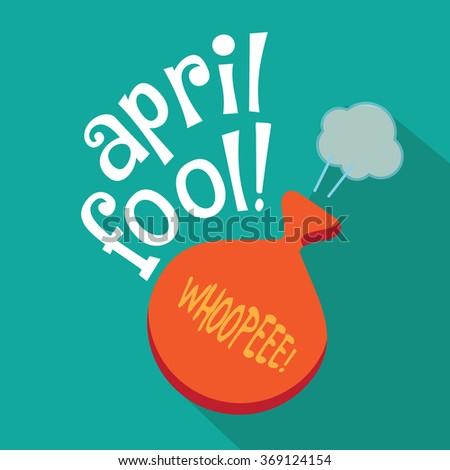 April Fools Day gag flat design. EPS 10 vector - stock vector