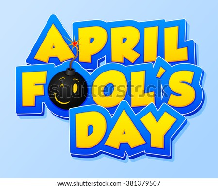 April Fools Day lettering. Vector illustration for greeting card, ad, promotion, poster, flier, blog, article, marketing, signage, email. Happy Fool's Day. EPS 10