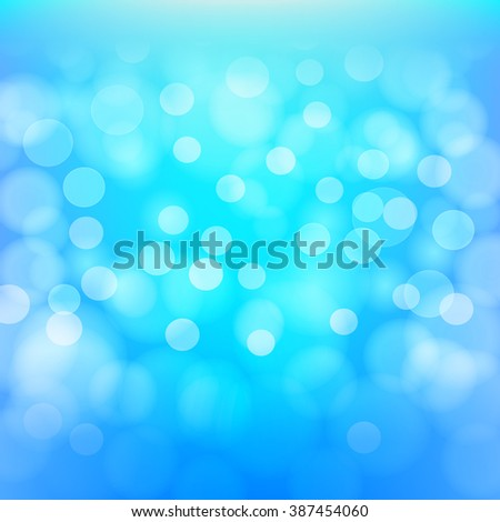 Aqua bokeh abstract background. Vector design template