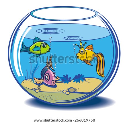 Aqua fishes - stock vector
