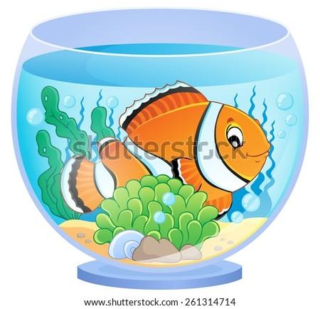 Aquarium theme image 1 - eps10 vector illustration. - stock vector