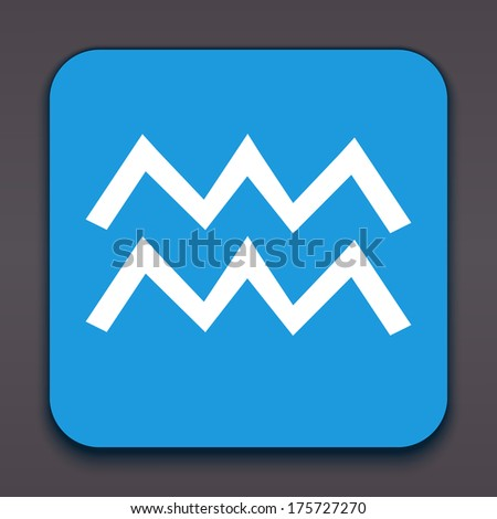 Aquarius. Horoscope signs/symbols. Vector illustration/ EPS 10. Other signs are represented in the my portfolio. - stock vector