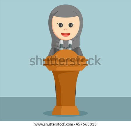 arab businesswoman giving speech