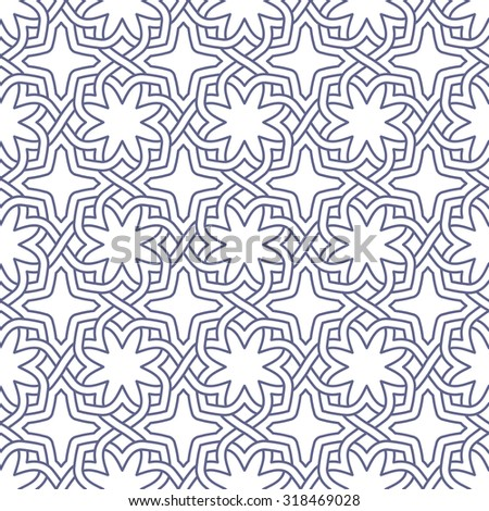 Arabesque seamless beautiful oriental arabic Islam pattern. Abstract vector background.