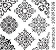 Arabesque set isolated on white - stock vector