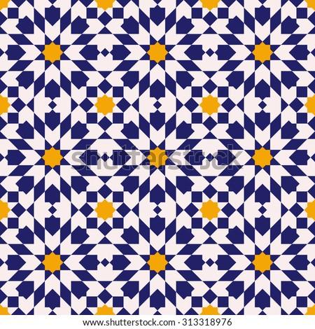 Arabesque Traditional Moroccan Tile Ornament Seamless Stock Vector