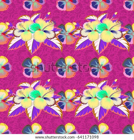 vivid tropical flowers leaves vector seamless stock vector 282324317 shutterstock. Black Bedroom Furniture Sets. Home Design Ideas