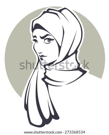 arabian beauty, vector illustration - stock vector