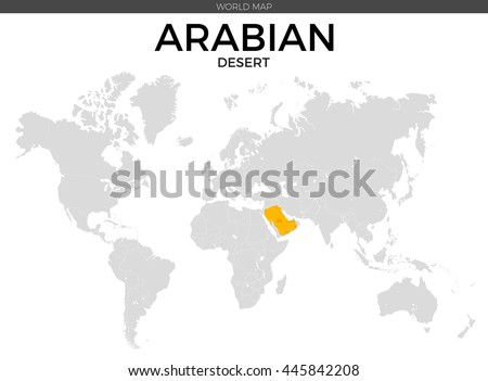 Africa Continent Location Modern Detailed Vector Stock Vector