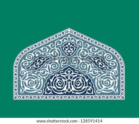 Arabic Floral Ornament. Traditional Islamic Design. Mosque decoration element. - stock vector