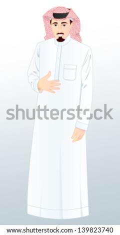 Arabic Man - stock vector