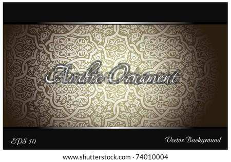 arabic ornament background - stock vector
