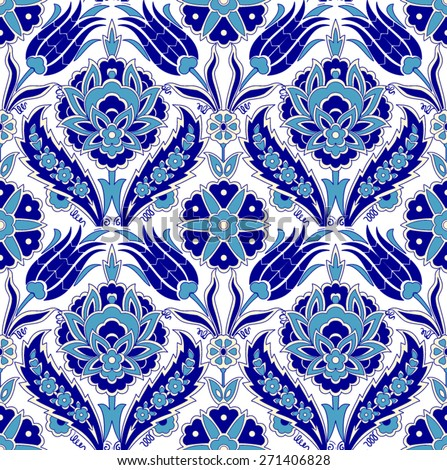 Arabic ornament seamless pattern for your design. Vector - stock vector