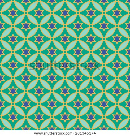 Arabic pattern. Seamless vector background - stock vector