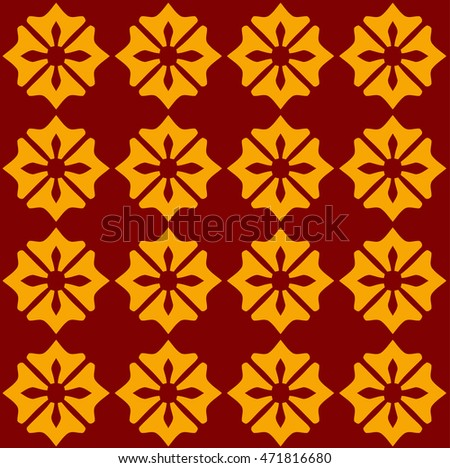 Arabic red and yellow pattern