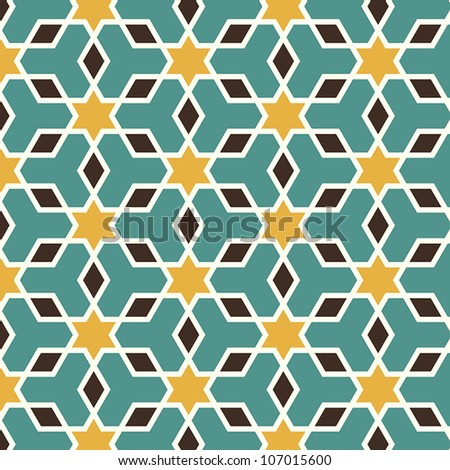 Arabic seamless pattern in editable vector file