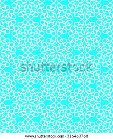 Arabic seamless pattern on a turquoise background.