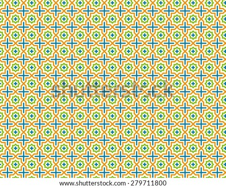 Arabic seamless patterns. Abstract background. Vector illustration - stock vector
