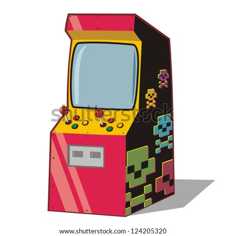Arcade gaming machine - stock vector