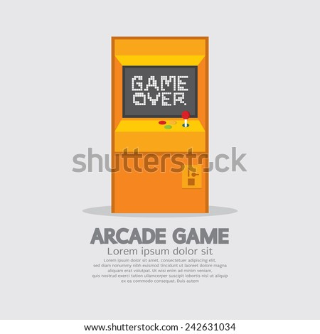 Arcade Machine Vector Illustration - stock vector