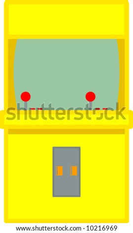 arcade videogame - stock vector