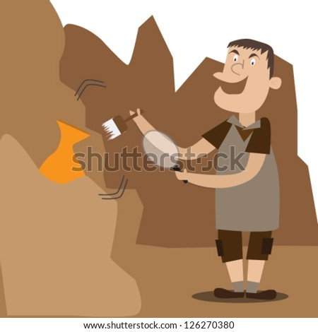 Archeology vector illustration series - stock vector