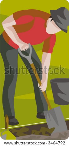 Archeology vector illustration series. Check my portfolio for much more of this series as well as thousands of other great vector items. - stock vector