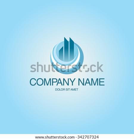Architect Construction building Idea - vector logo - stock vector