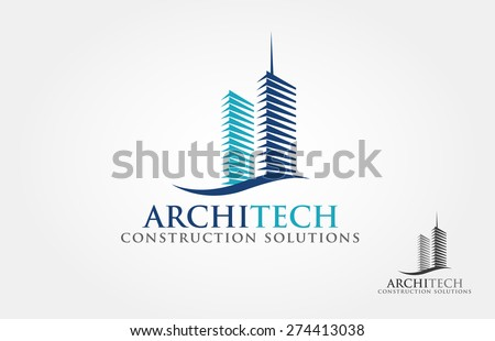 Architect Construction Idea -  vector logo - stock vector