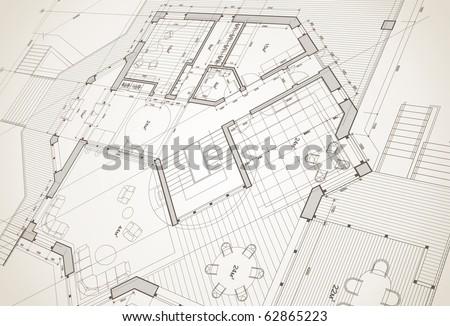 Architect house plan vector blueprint vectores en stock 62865223 architect house plan vector blueprint malvernweather Images