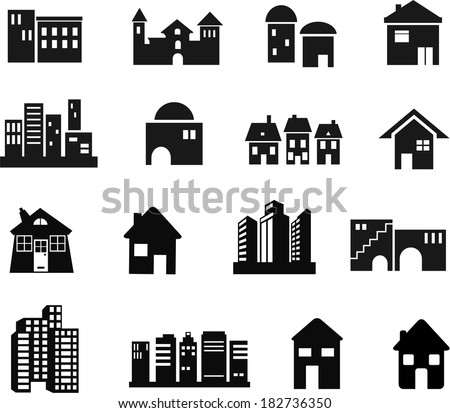 Architectural and Building Icons - stock vector