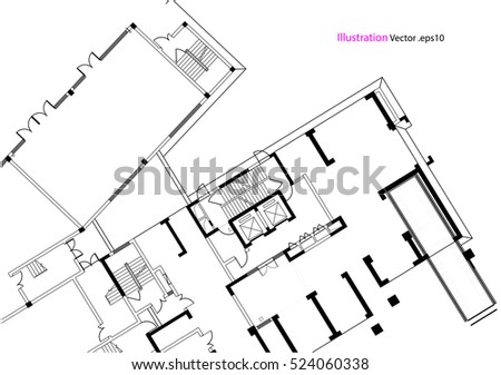 Architectural background, architectural plan, construction drawing, landscape