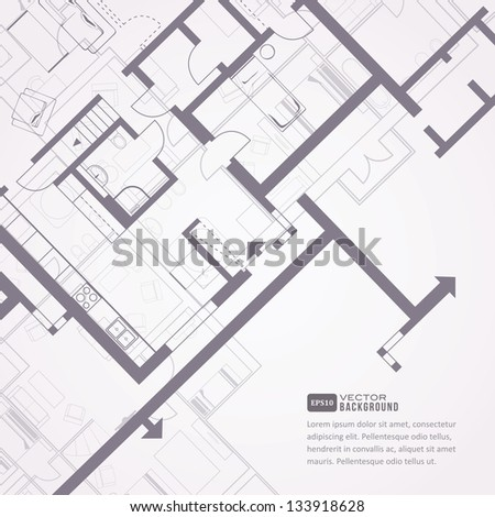 Architectural background. Eps10 vector illustration - stock vector