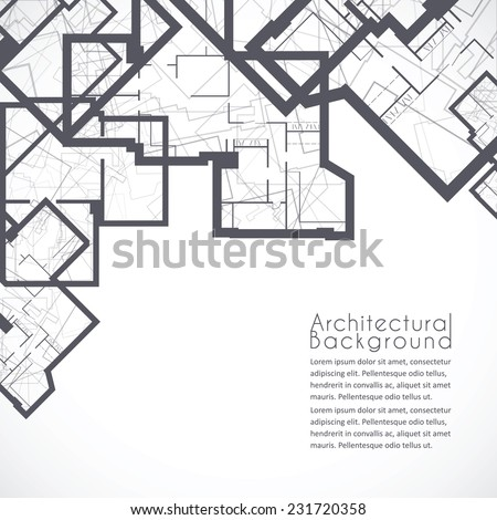 Architectural background. Vector - stock vector