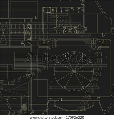 Architectural background. Vector blueprint.