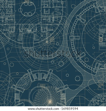 Architectural background. Vector building plan. - stock vector